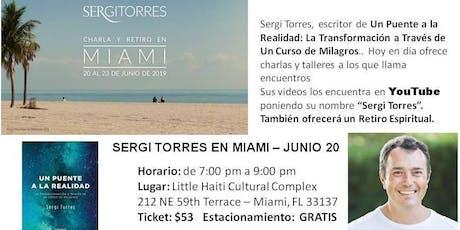 Charla por Sergi Torres de Barcelona UCDM entradas