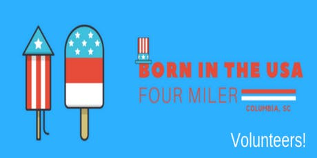 Volunteers: Born in the USA 4-miler tickets