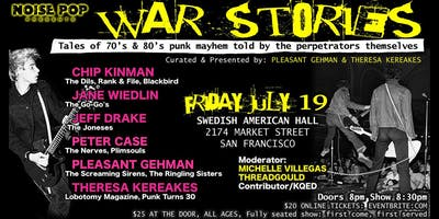 WAR STORIES: Tales of 70's & 80's Punk Mayhem Told By The Perpetrators Themselves