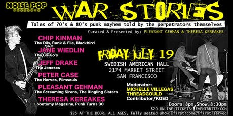 WAR STORIES: Tales of 70's & 80's Punk Mayhem Told By The Perpetrators Themselves tickets