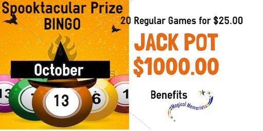 Magical Memories Spooktacular Prize  Bingo with $1000.00 Jackpot
