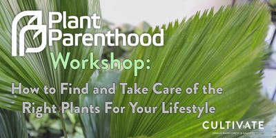 Plant Parenthood Workshop Series: How to Find and Take Care of the Right Plant For Your Lifestyle