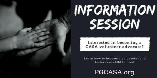 Fall Volunteer Advocate Information Session with CASA Prince George's County