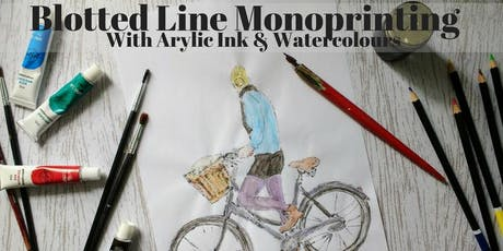 Blotted Line Monoprinting with Acrylic Ink tickets