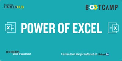 Power of Excel BM Bootcamp Level 1