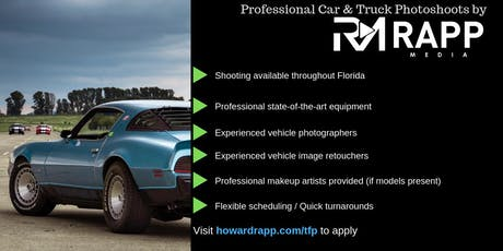 Use Your Car in Professional Photoshoots tickets
