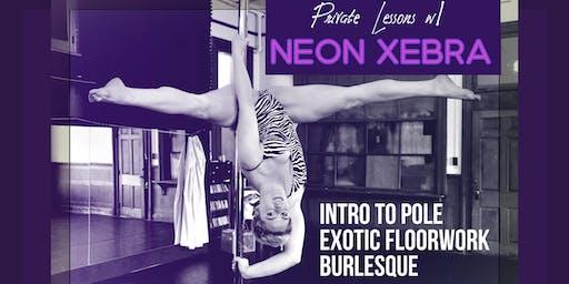 Private Lessons w/ Neon Xebra: Pole/Exotic/Burlesque