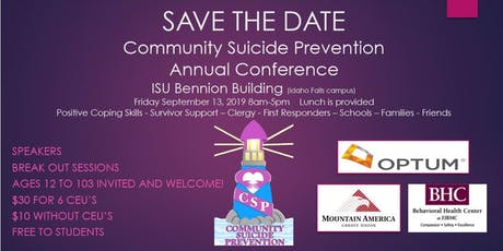 Community Suicide Prevention Confrence tickets