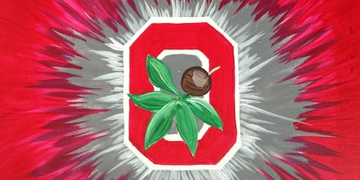 Ohio State Theme Canvas - Creative Paint & Sip Maker Class