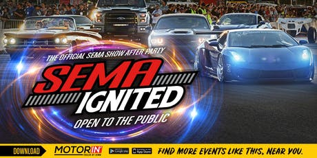 2019 SEMA Ignited - Las Vegas Convention Center - Platinum Lot tickets