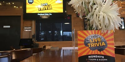 Monday Night Trivia at Portland Cider Co!