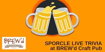 Monday Night Trivia at BREW'd Craft Pub!