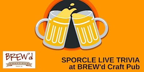 Monday Night Trivia at BREW'd Craft Pub! tickets
