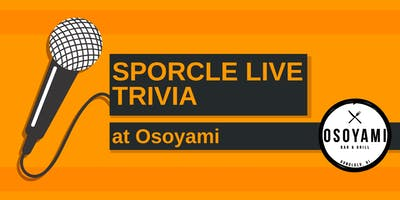 Wednesday Night Trivia at Osoyami!