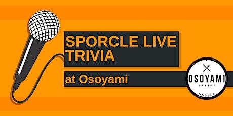 Wednesday Night Trivia at Osoyami! tickets