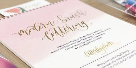 Modern Brush Lettering tickets