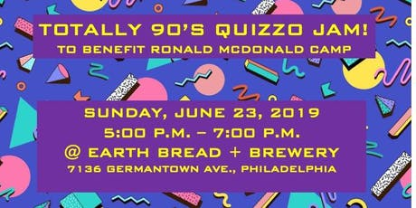 Totally 90's Quizzo Jam to Benefit RMC tickets