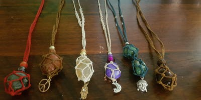 Crystal Macrame Necklace Workshop