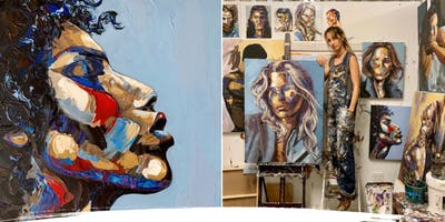 Briahna Wenke: Artist Live Painting Performance