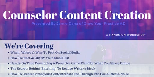 Counselor Content Creation