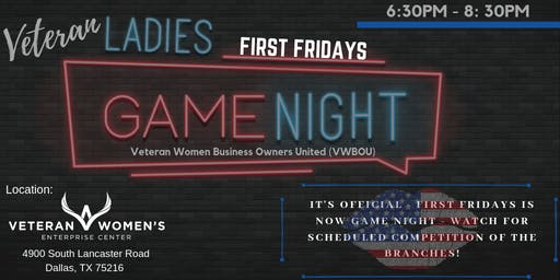 SUSPENDED FOR JULY - It's Official, First Fridays is Game Night