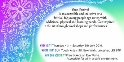 Your Festival, participatory  Arts for young people with additional needs