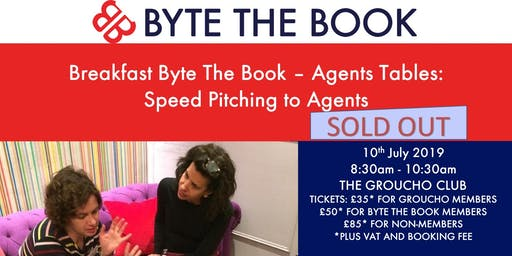 Breakfast Byte The Book Agent Tables - Speed Pitching to Agents at The Groucho Club (July)