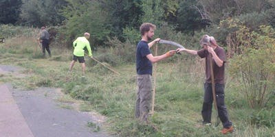 St Nicks Evening Conservation Group - Scything, raking and sowing