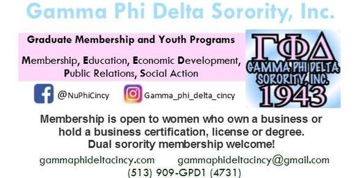 Gamma Phi Delta Sorority, Inc. - Nu Phi Chapter: Formal Information Session