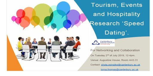 Tourism, Events and Hospitality Research 'Speed Dating'.