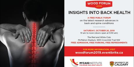 Wood Forum 2019: Insights into back health tickets