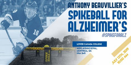 Anthony Beauvillier's Spikeball for Alzheimer's billets