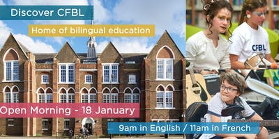 CFBL Open Morning - 18 January - in English