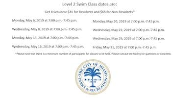 Grapeland Water Park Level 2 Monday/Wednesday (7:00PM-7:45PM)