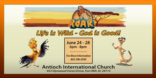 VBS 2019 - Roar! Life is Wild, God is Good!