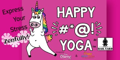 Happy #*@! Yoga-For Charity at Frisco Rail Yard