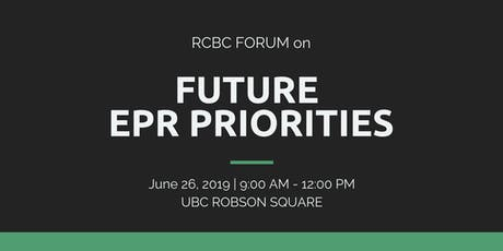 RCBC Forum on Future EPR Priorities tickets