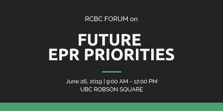 RCBC Forum on Future EPR Priorities tickets