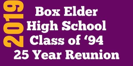 Box Elder High School Class of '94 25 Year Reunion