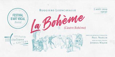 LA BOHÈME DE RUGGERO LEONCAVALLO  billets