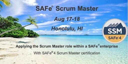 SAFe Scrum Master -  Scaled Agile Course - Honolulu, HI