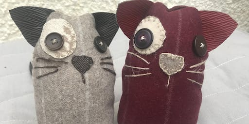 The Wonky-eyed cat: a mindful hand sewing workshop