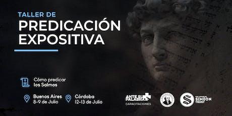 Taller Predicación Expositiva | Simeon Trust  2019 Buenos Aires entradas