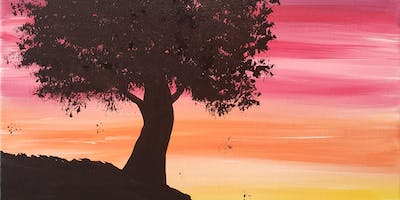 Sunset done right BYO Paint & Sip