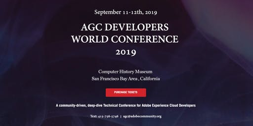 AGC Developers World Conference - 2019