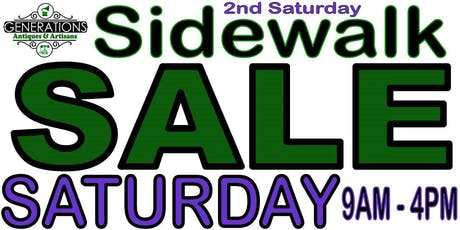 2ND SATURDAY SIDEWALK SALE EVENT - 70+ VENDORS & FOOD TRUCKS **PRIZES** tickets
