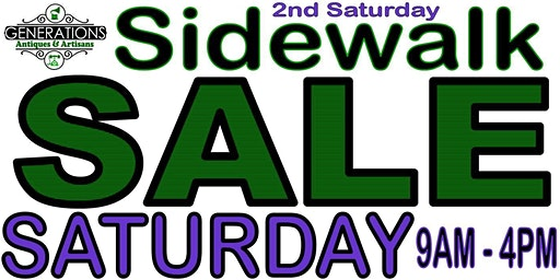 2ND SATURDAY SIDEWALK SALE EVENT - 70+ VENDORS & FOOD TRUCKS **PRIZES**