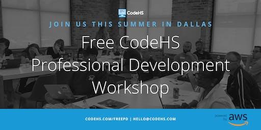 Free CodeHS Professional Development Workshop - Dallas, Texas
