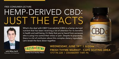 Hemp-Derived CBD: Just The Facts