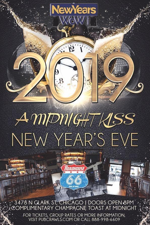 4th Annual A Midnight Kiss NYE at Roadhouse 66